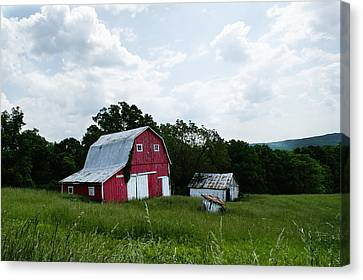 Brown County Barn Canvas Print by Off The Beaten Path Photography - Andrew Alexander