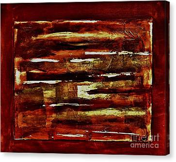 Brown Red And Golds Abstract Canvas Print by Marsha Heiken