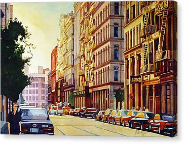 Brownstone Sunset Canvas Print by Mick Williams