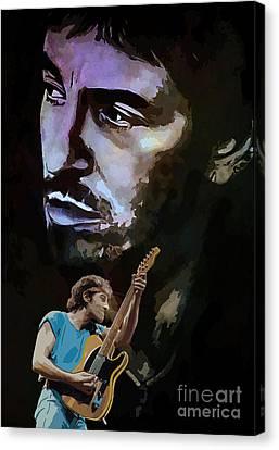 Bruce Springsteen. Canvas Print by Andrzej Szczerski