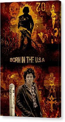 Bruce Springsteen Canvas Print by Dancin Artworks