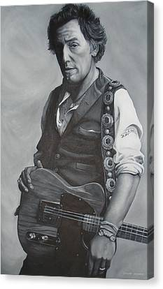 Bruce Springsteen I Canvas Print by David Dunne
