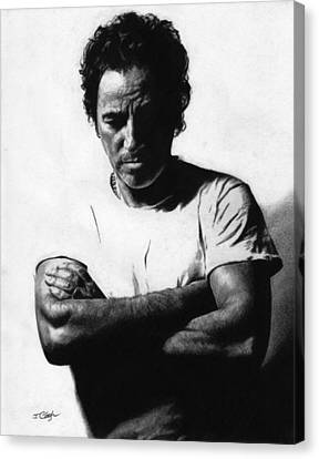Bruce Springsteen  Canvas Print by Justin Clark