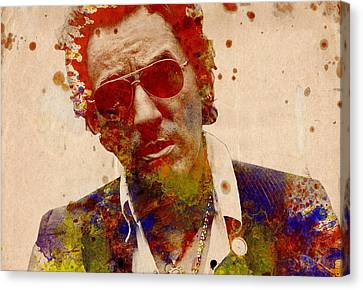 Bruce Springsteen Canvas Print by Bekim Art