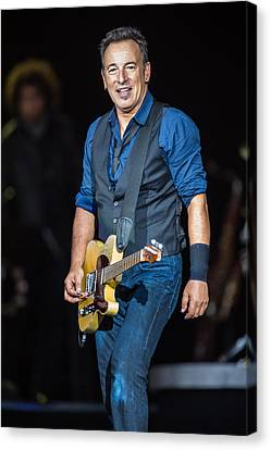 Bruce Springsteen Canvas Print by Georgia Fowler
