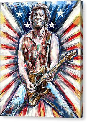 Bruce Springsteen Painting Canvas Print by Ryan Rock Artist