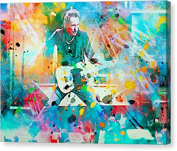 Bruce Springsteen  Canvas Print by Rosalina Atanasova