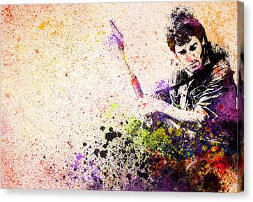Bruce Springsteen Splats 2 Canvas Print by Bekim Art
