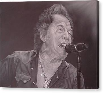 Bruce Springsteen V Canvas Print by David Dunne