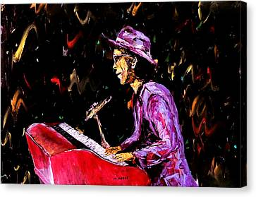 Bruno Mars  Canvas Print by Mark Moore