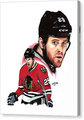 Bryan Bickell Canvas Print by Jerry Tibstra