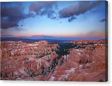 Bryce Sunrise Canvas Print by Darren  White