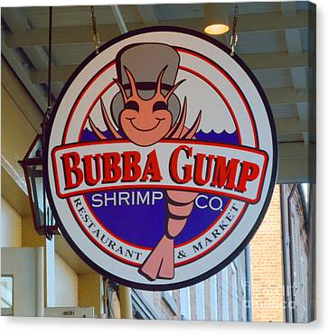 Bubba Gump Shrimp Sign Canvas Print by Alys Caviness-Gober
