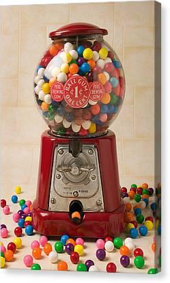 Bubble Gum Machine Canvas Print by Garry Gay