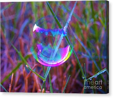 Bubble Illusions 3 Canvas Print by Judy Via-Wolff