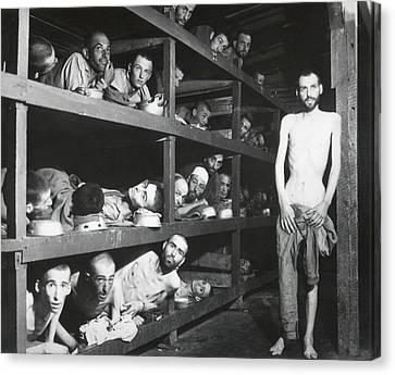 Buchenwald Concentration Camp Survivors Canvas Print by Everett