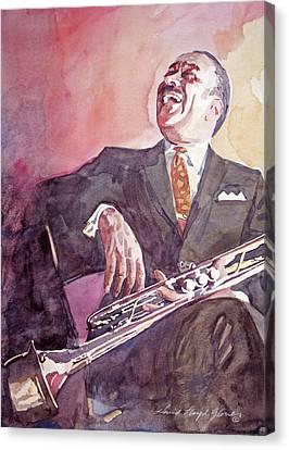 Buck Clayton Jazz Horn Canvas Print by David Lloyd Glover