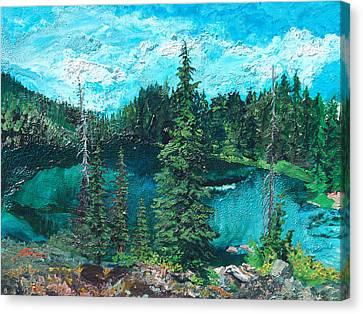 Buck Lake Canvas Print by Joseph Demaree