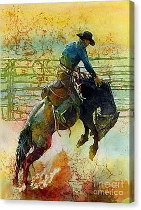 Bucking Rhythm Canvas Print by Hailey E Herrera