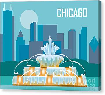 Buckingham Fountain Chicago Canvas Print by Karen Young