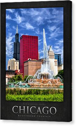 Buckingham Fountain Sears Tower Poster Canvas Print by Christopher Arndt