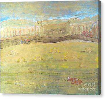 Tuscany Italy Bucolic 1 Canvas Print by Richard W Linford