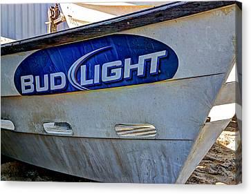 Bud Light Dory Boat Canvas Print by Heidi Smith