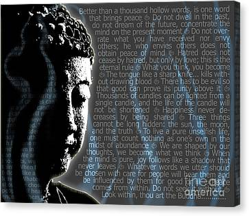 Buddha Quotes Canvas Print by Sassan Filsoof