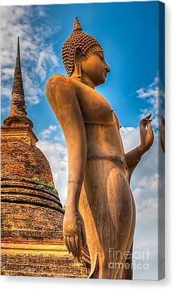 Buddha Statue Canvas Print by Adrian Evans