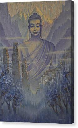 Buddha. Valley Of Silence Canvas Print by Vrindavan Das
