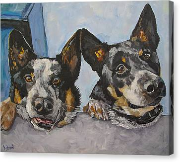 Buddy And Bandit Canvas Print by Kellie Straw
