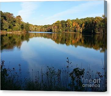 Buddy Attick Lake Park Canvas Print by Emmy Marie Vickers