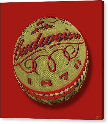 Budweiser Cap Orb Canvas Print by Tony Rubino