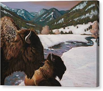 Winter Coat Canvas Print by Christopher Reid