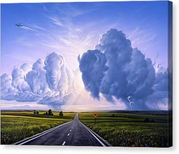 Nato Buffalo Crossing Canvas Print by Jerry LoFaro