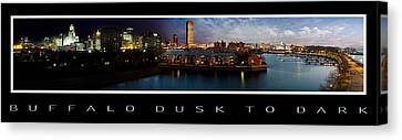 Buffalo Dusk To Dark 2 Canvas Print by Peter Chilelli