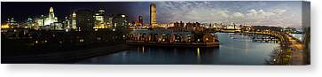 Buffalo Dusk To Dark Canvas Print by Peter Chilelli