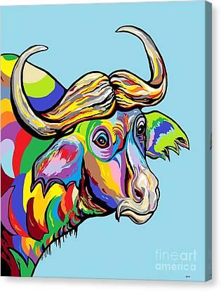 Buffalo Canvas Print by Eloise Schneider