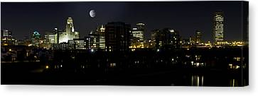 Buffalo Night Moves Canvas Print by Peter Chilelli