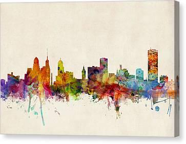Buffalo Skyline Canvas Print by Michael Tompsett