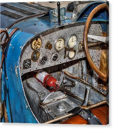 Bugatti Cockpit Canvas Print by Bill Wakeley