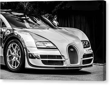 Bugatti Legend - Veyron Special Edition -0844bw Canvas Print by Jill Reger