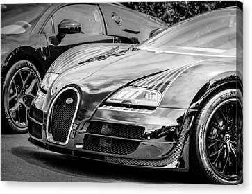 Bugatti Legend - Veyron Special Edition -0845bw Canvas Print by Jill Reger