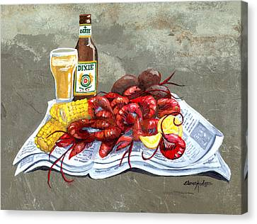 Bugs And Beer Canvas Print by Elaine Hodges