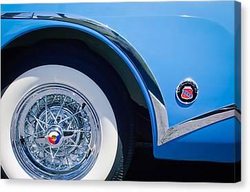 Buick Skylard Wheel Emblem Canvas Print by Jill Reger