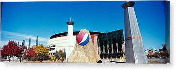 Building In A City, Pepsi Center Canvas Print by Panoramic Images