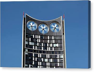 Building-integrated Wind Turbines Canvas Print by Martin Bond