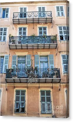 Building With Balconies Canvas Print by Elena Elisseeva