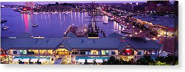 Buildings At A Harbor, Inner Harbor Canvas Print by Panoramic Images