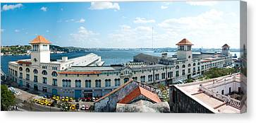 Buildings At The Harborfront, Sierra Canvas Print by Panoramic Images
